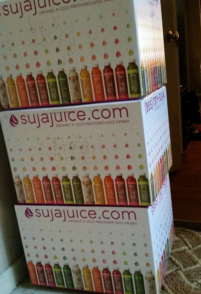 Boxes guard my doorway...great icy cold preservation of these priceless juice gems!