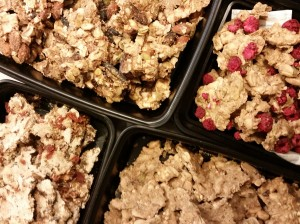 4 versions of RAW Granola...ROCKED IT!