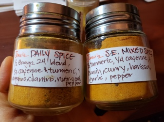 I use these spice mixes which I have on hand
